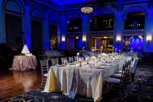 Image of wedding reception table at the Ballroom at the Ben