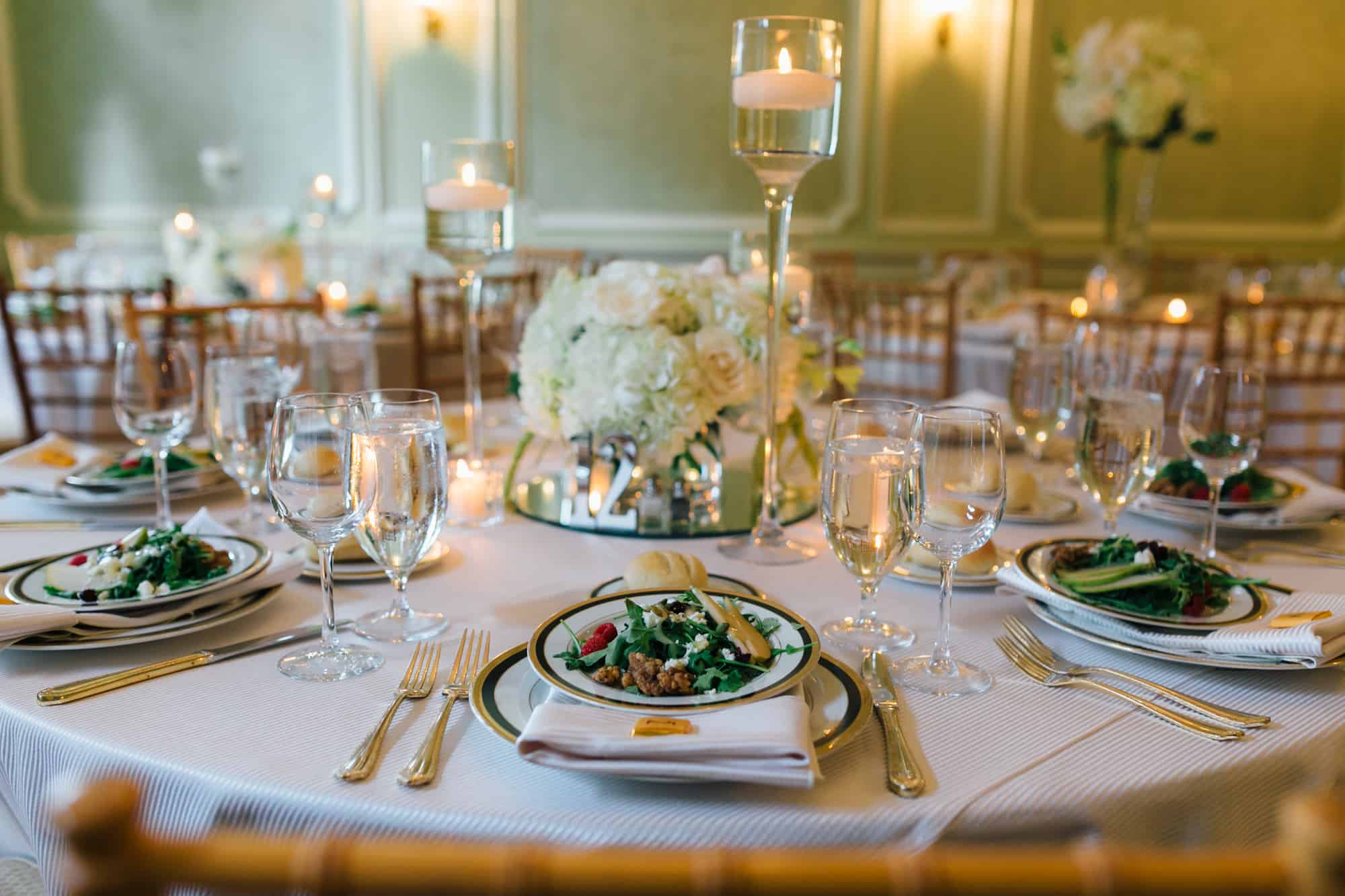 Detail image of wedding reception table