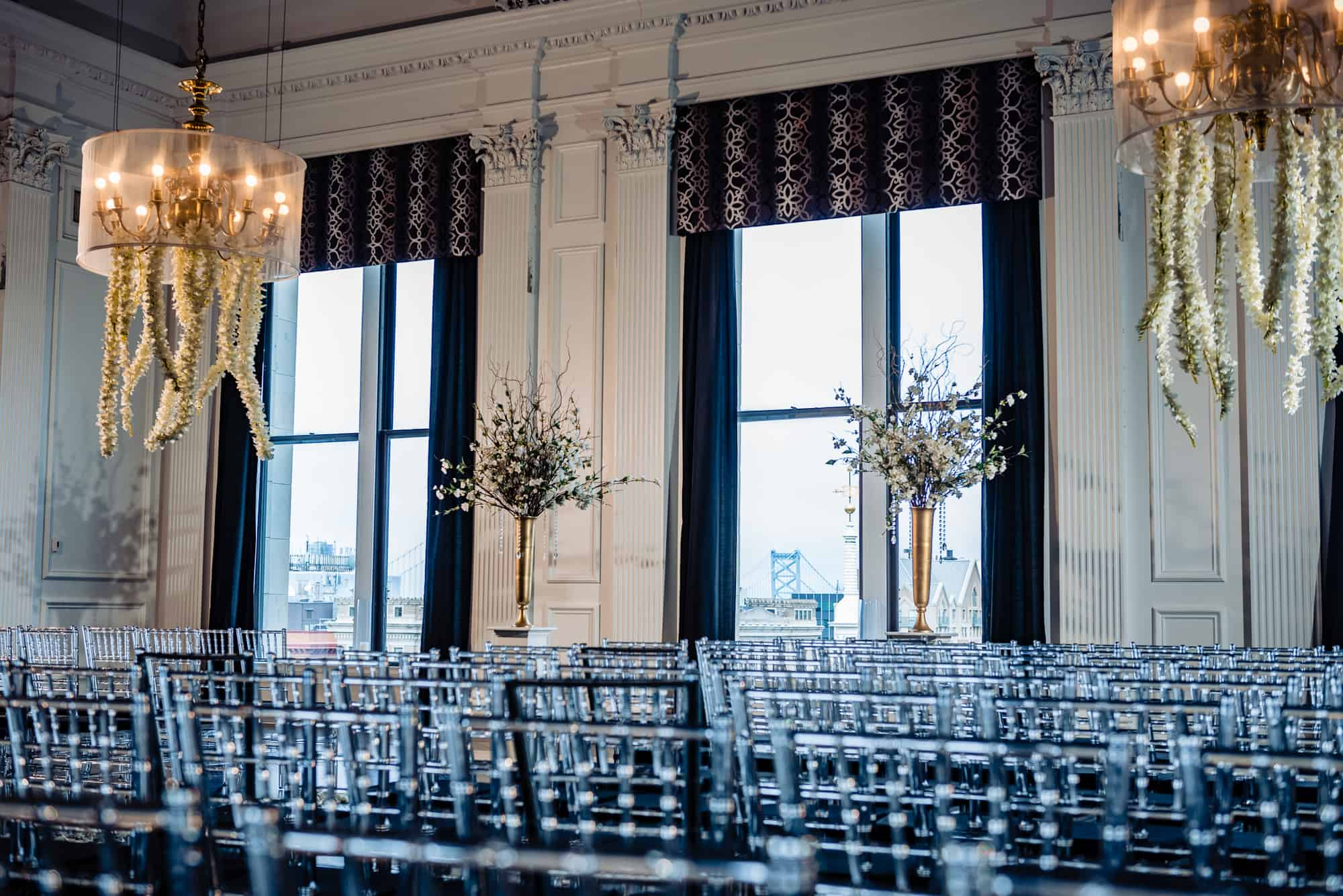 Ceremony set up at the Downtown Club Philadelphia