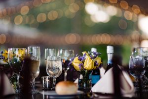 Wedding table detail shot at the Glen Foerd mansion