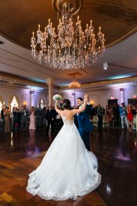 Bride and groom dancing at the Merion