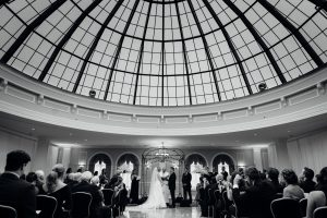 Wedding ceremony at the Merion