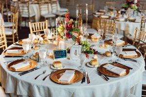 Detail shot of guest table at Union Trust Philadelphia
