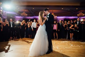 Bride and groom first dance at the Westin Hotel