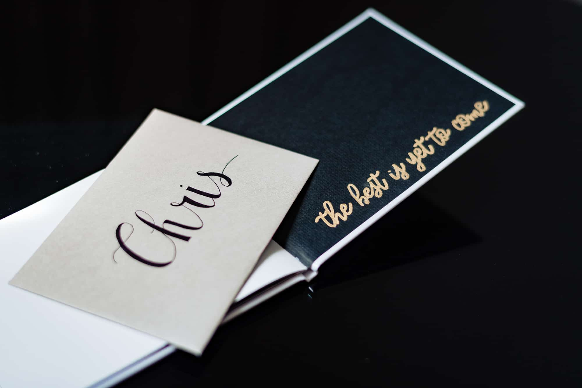 wedding accessories, card addressed to groom