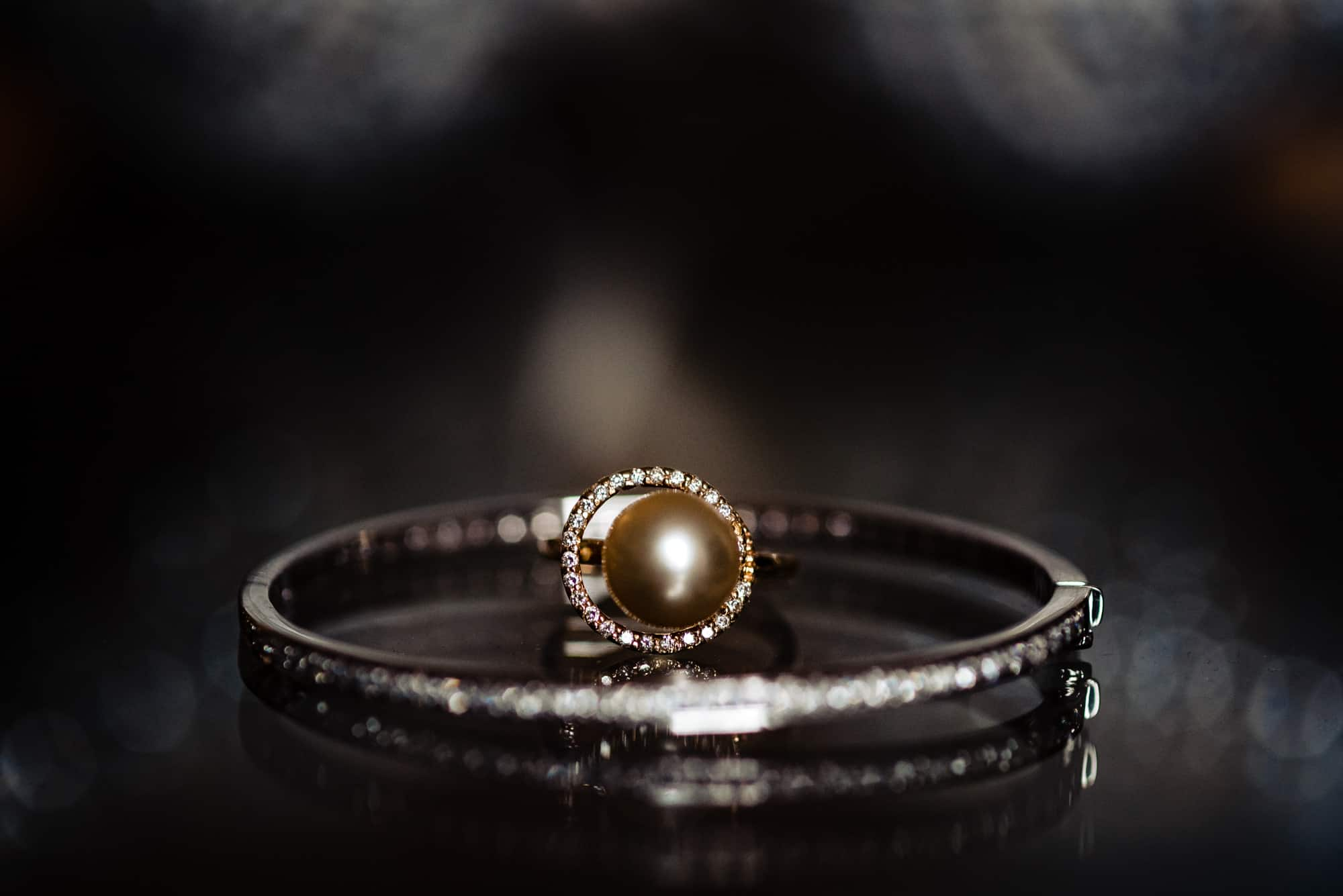 Ritz Carlton Philadelphia Wedding|detail shot of ring and bracelet