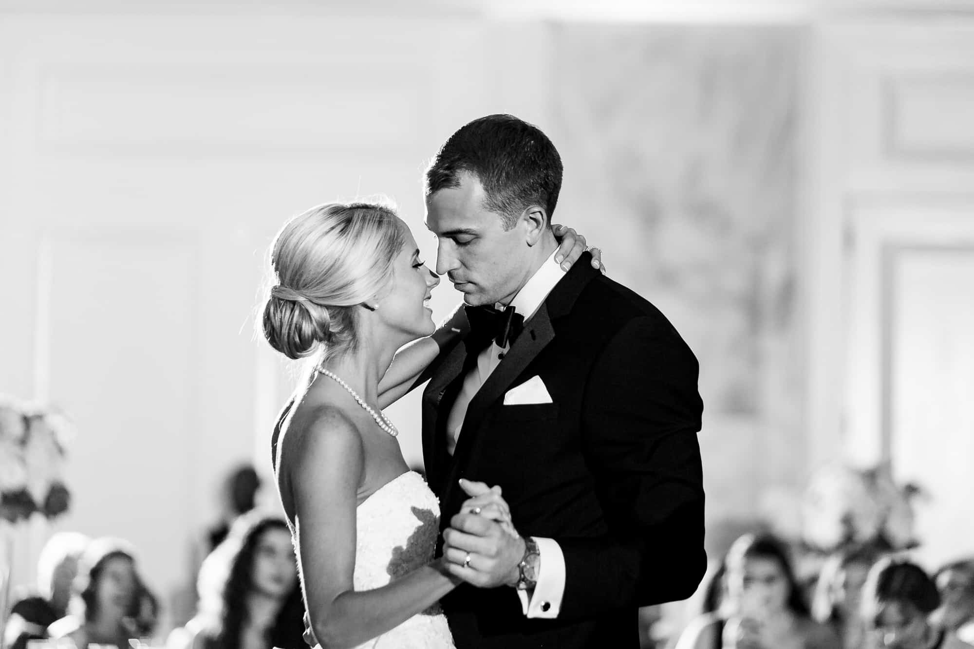 Ritz Carlton Philadelphia Wedding|bride and groom first dance during wedding reception