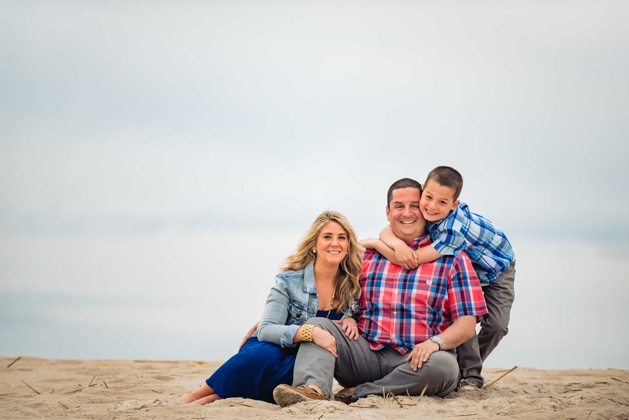 image of a family photo on the beach
