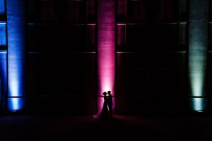 Silhouette of couple at the Merion in Cinnaminson NJ