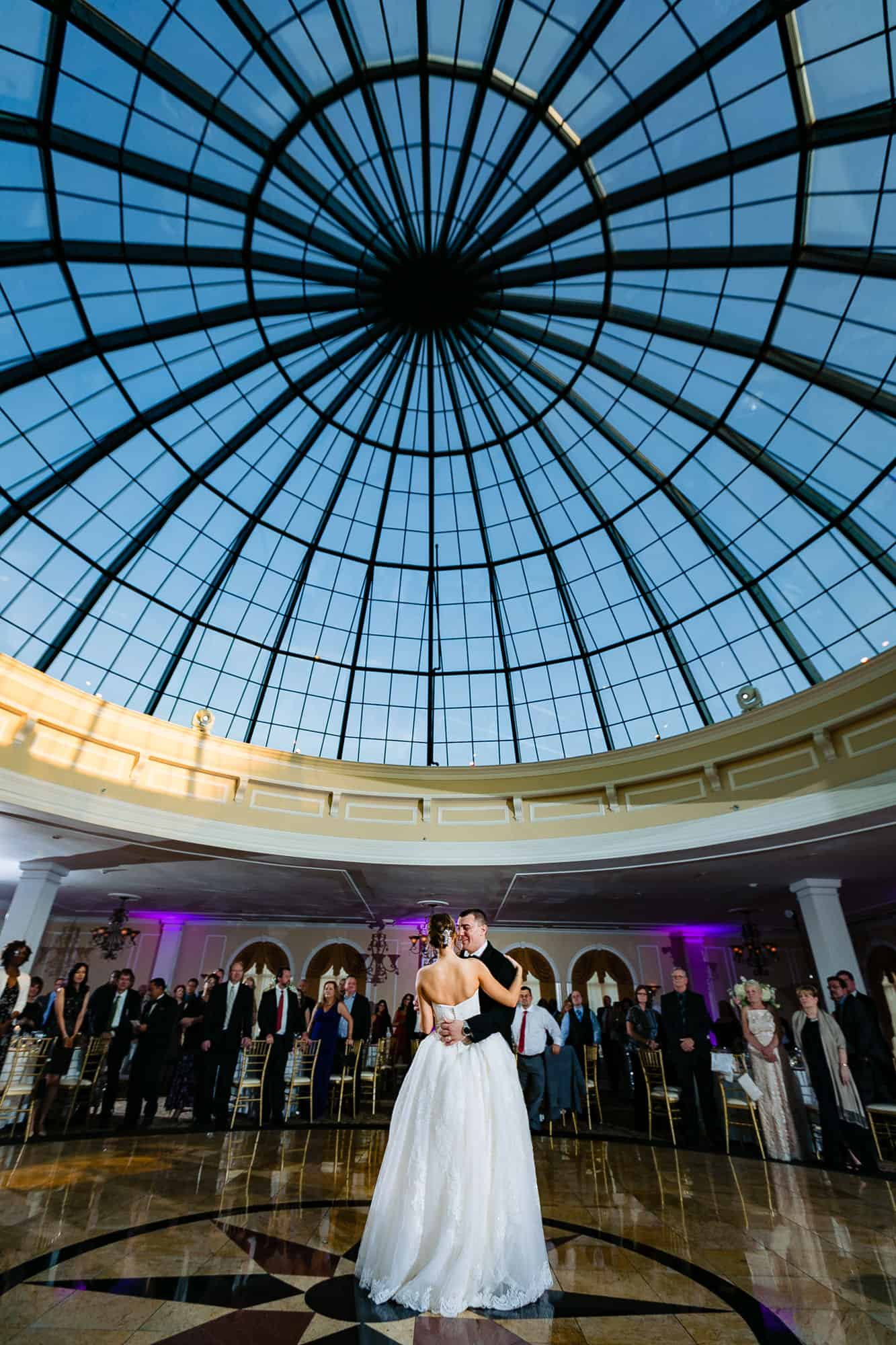 Bride and groom first dance at the Merion