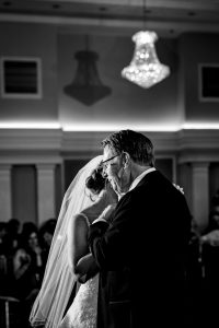 Bride and her father dancing at the Arts Ballroom