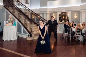bridal party entrance at the Arts Ballroom