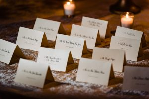 detail shot of guest place cards at Hotel DuPont