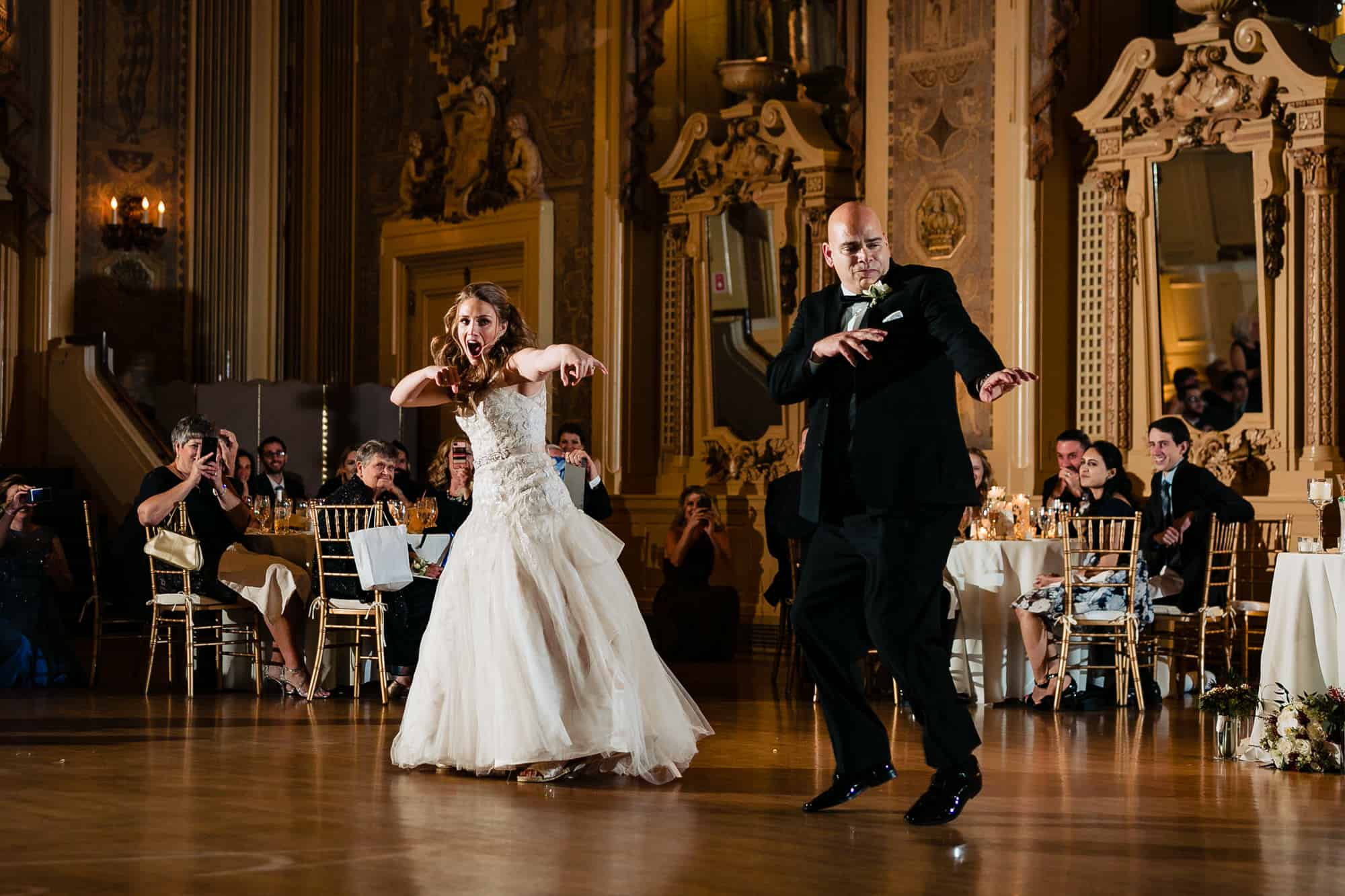 Bride and her father dancing at the Hotel DuPont