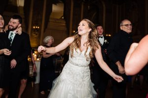 Bride dancing at the Hotel DuPont
