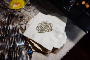 detail shot of Hotel DuPont napkin