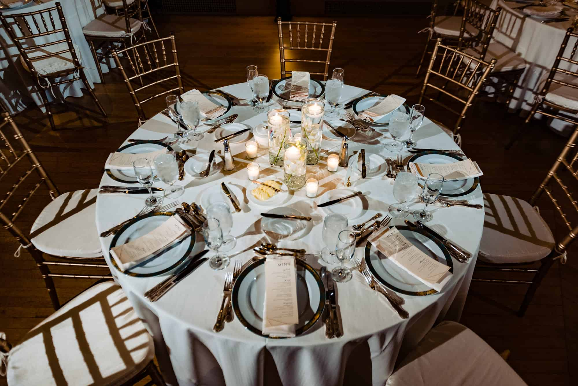 Overhead shot of guest table at Hotel DuPont
