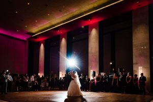 bride and groom first dance at the Loews Hotel in Philadelphia