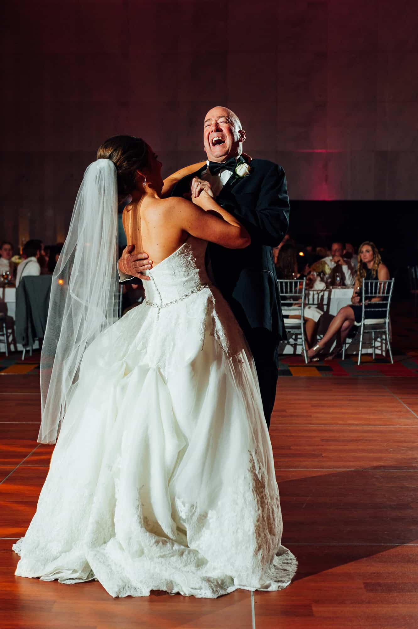 Bride and father dancing at the Loews Hotel in Philadelphia