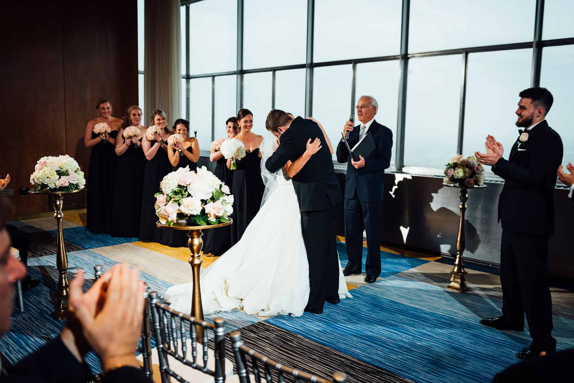 wedding ceremony at the Loews Hotel in Philadelphia