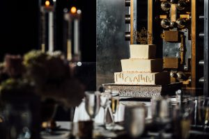 images of wedding cake at the Loews Hotel in Philadelphia
