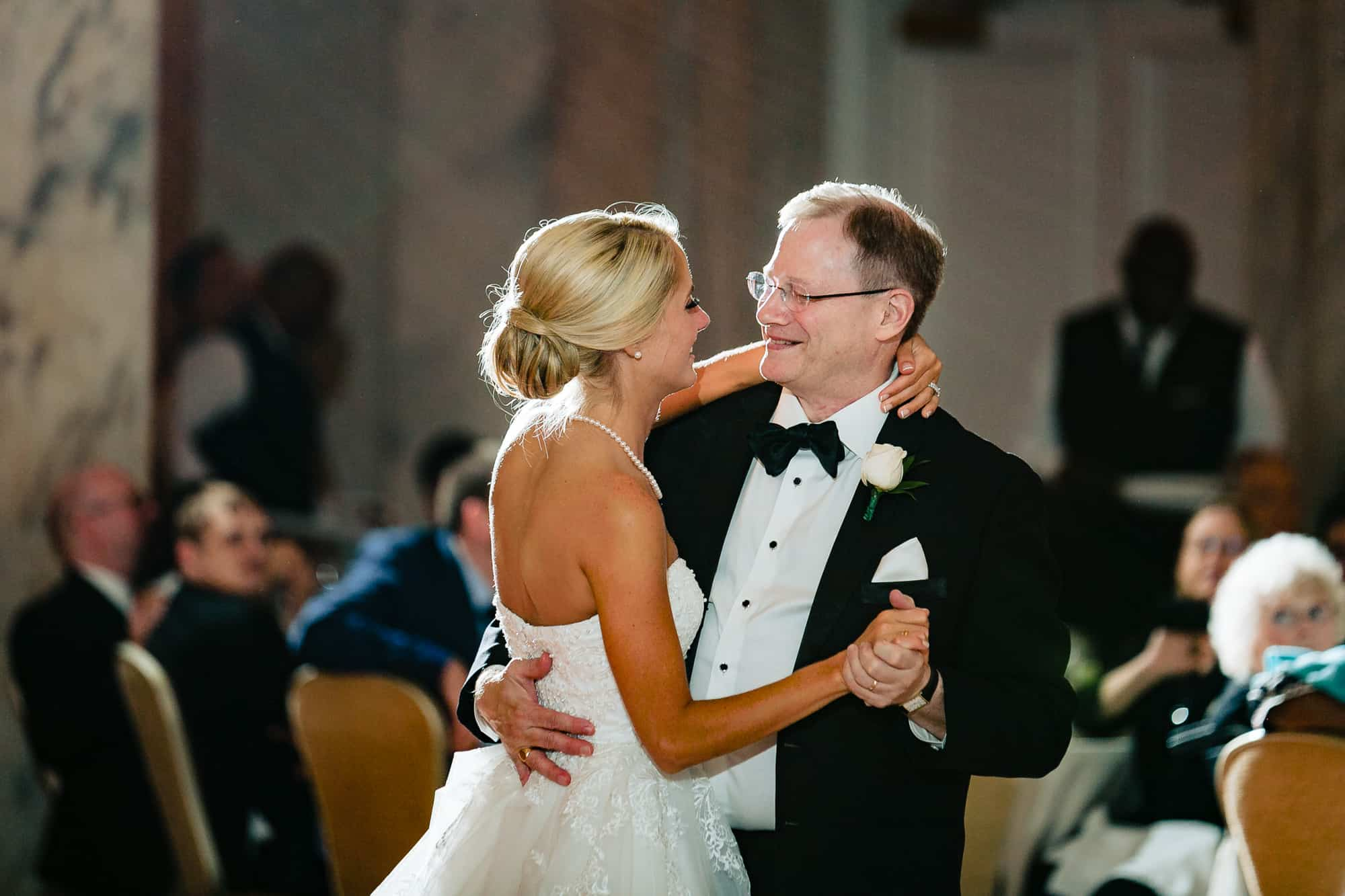 Bride and her father dancing at the Ritz Carlton Philadelphia