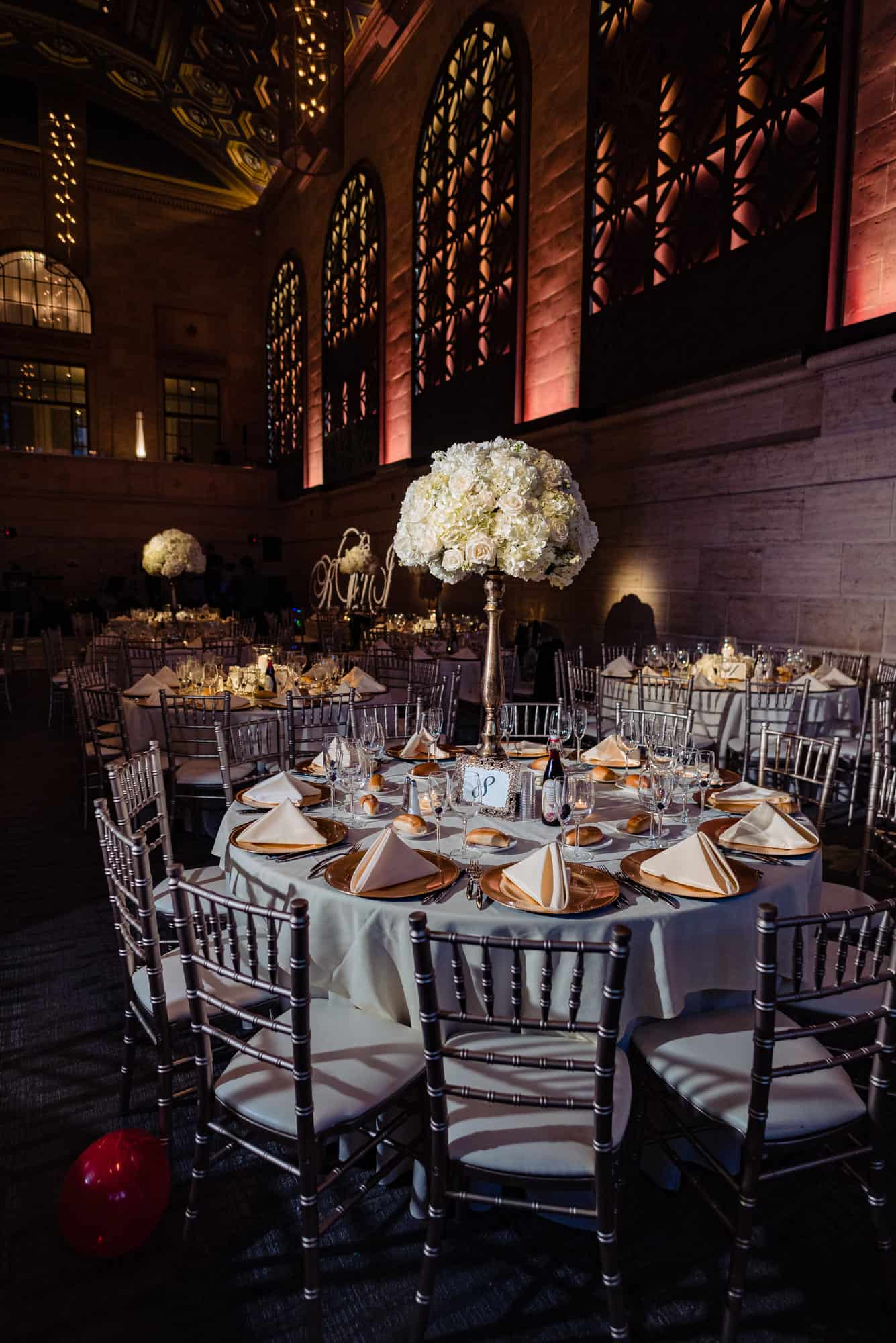 photo of guest table at a Union Trust Wedding