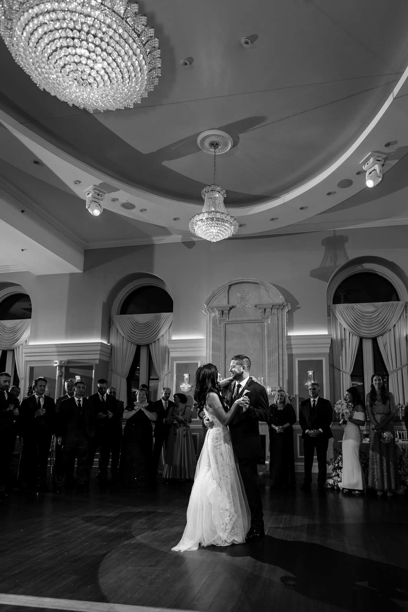bride and grooms first dance at their Arts Ballroom Philadelphia wedding