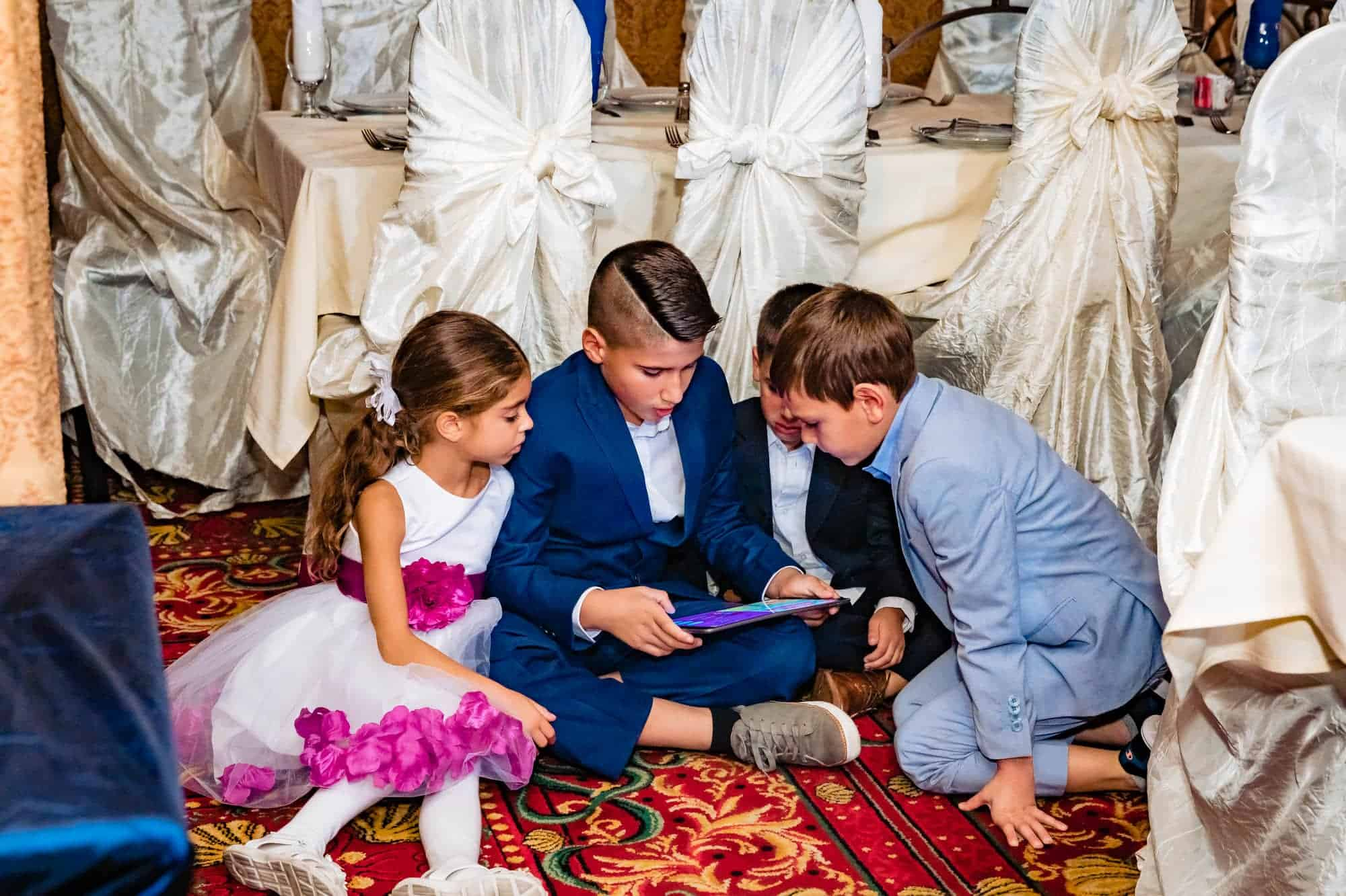 kid section at wedding